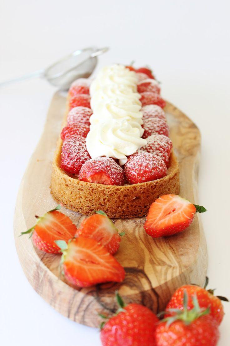 Aardbeienslof - lekker voor alle feestdagen..maar ook als je gewoon van lekker gebak en aardbeien houdt