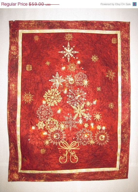 Christmas in July Quilted Christmas Tree with by KellettKreations, $50.15