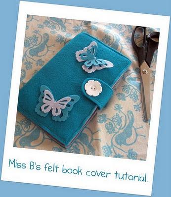 felt book cover