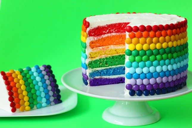 Rainbow cake - going on the St. Patrick's Day board based on the fact that it looks like a rainbow. St. Patrick's Day - leprechauns - pots of gold - rainbow...