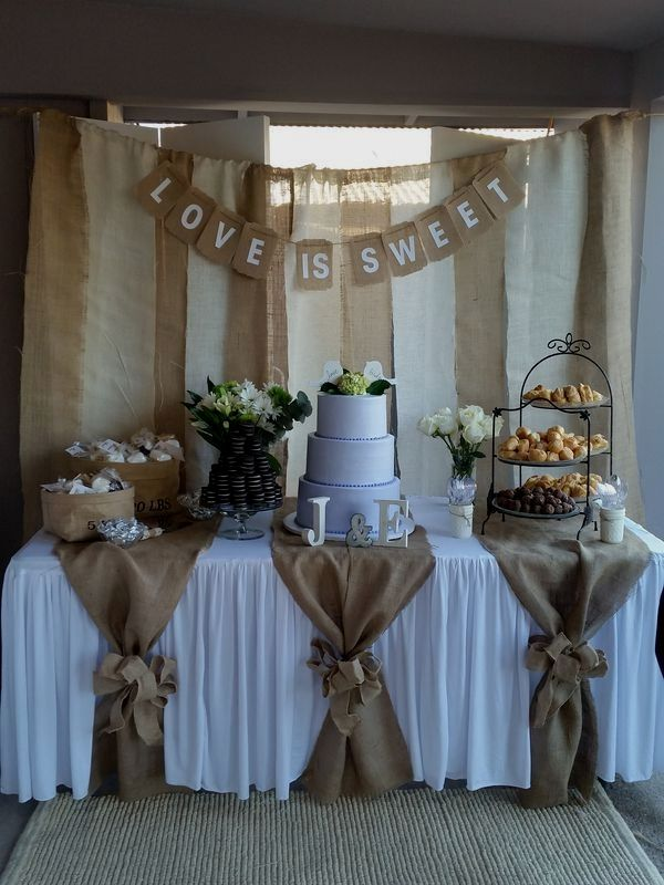 Rustic Wedding Decoration In 2020 Fun Wedding Decor Burlap Wedding Decorations Bridal Shower Decorations