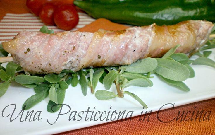 spiedini di carne e pancetta