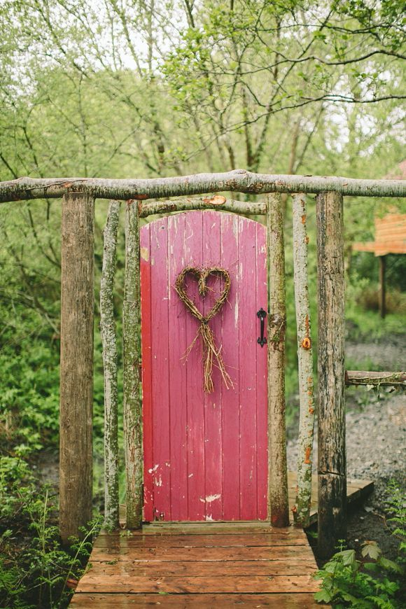 This Would Be An Adorable Wooden Door For A Wedding