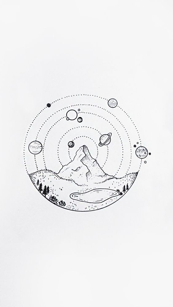 easy cool drawings space drawing whimsical doodle