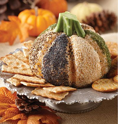Recipe For Hallowed Eve Cheese Pumpkin - Mix things up this holiday season and serve this cheese pumpkin masterpiece to your party guests.