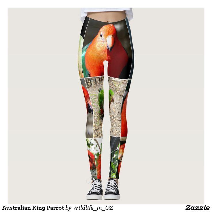 Australian King Parrot Leggings. Aussie Wildlife Leggings. Click on photo to view item then click on item to see how to purchase that item. #leggings #activewear #rosella #easternrosella #koala #koalabear #wildlife #australianwildlife #zazzle #lorikeet #rainbowlorikeet #indianringneck #cockatoo #sulphurcrestedcockatoo #kingparrot #kookaburra