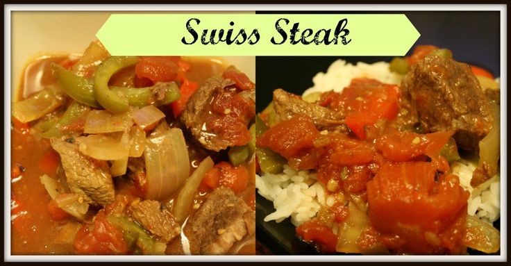 A crock pot recipe for swiss steak or pepper steak. This is a great low carb dinner option or can be served over rice.