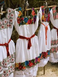 Ancient Mayan Wedding Traditions | Mayan indigenous Mexican embroidered dresses