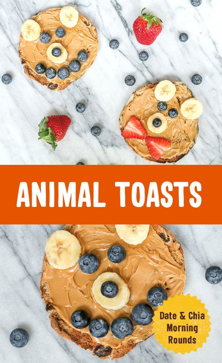 Try making Animal Toasts your little bears.