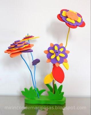 mi rincn de mariposas flores de goma eva
