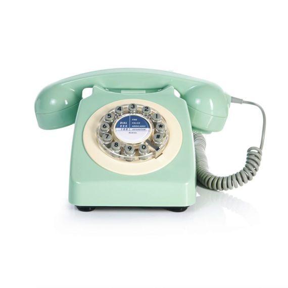 Retro-Telefon, mit Wählscheibe, Retro Look Vorderansicht