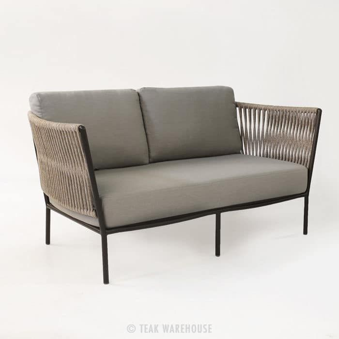 Innovative Outdoor Furniture Part - 41: This Innovative Outdoor Loveseat Is Made From Polypropylene Outdoor Rope  Woven Over A Powder-coated Aluminum Frame.