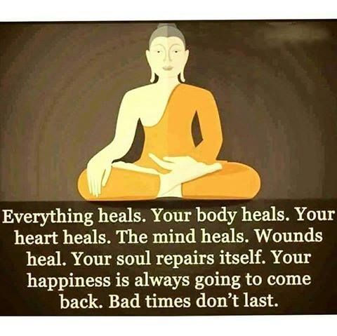 Everything heals. Be patient bad times don't last. @visualmeditatio | visualmeditation.co