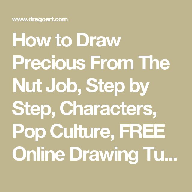 How to Draw Precious From The Nut Job, Step by Step, Characters, Pop Culture, FREE Online Drawing Tutorial, Added by Dawn, December 20, 2013, 5:09:43 pm