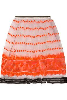 Marni: Orange Crushes, Sequences Embroidered, Style, Marni Sequences, Embroidered Organza, Organza Skirts, Marni Skirts, Cute Skirts, Marni Sequ Embroidered