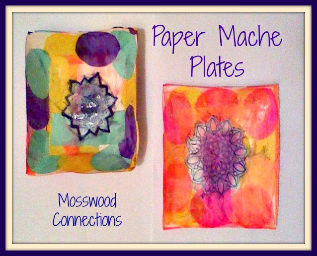 Homemade paper mache plates are a great gift. Press some love into the paper as you make it for someone in your life.