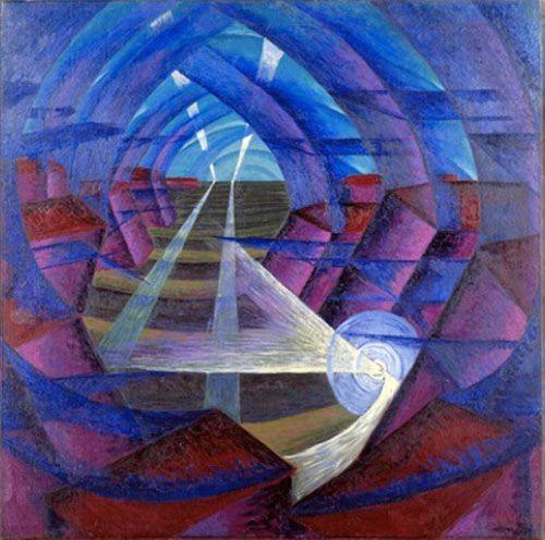 House + Light + Sky Movement [Luigi Russolo, 1913]