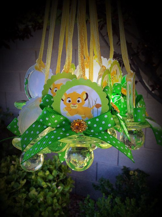 12 Lion king pacifiers for baby shower-lion by Marshmallowfavors