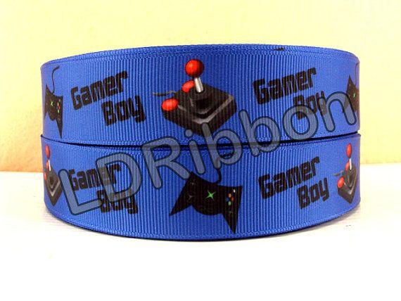1 Gamer Boy Grosgrain Ribbon