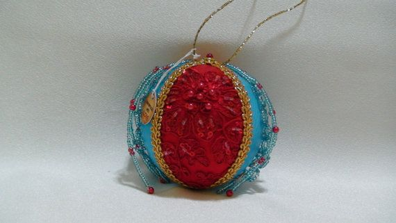 Shabby Chic Christmas Ball 34 by ShabbyChicXmas on Etsy