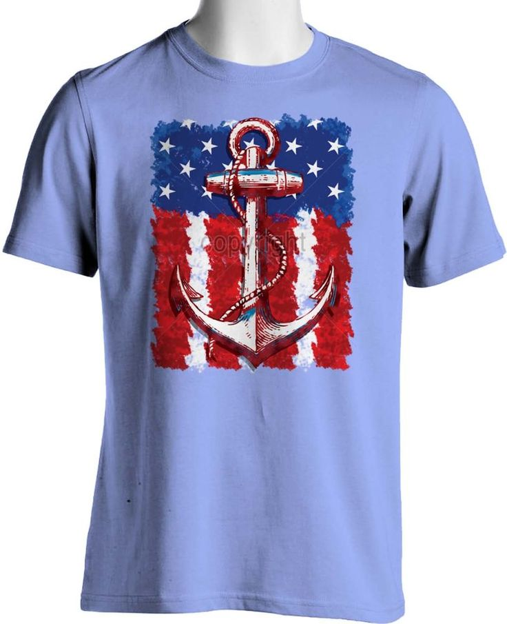 Patriotic American Flag T Shirt Navy Anchor Hipster Small to 6XL Free Shipping #TShirtsRule #GraphicTee