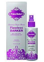 Fake Bake Flawless DARKER Luxurious Deeper Bronze Self Tan Liquid & Professional Mitt 6 oz