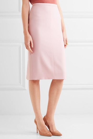 Max Mara - Bugia Stretch-wool Pencil Skirt - Pink - UK18