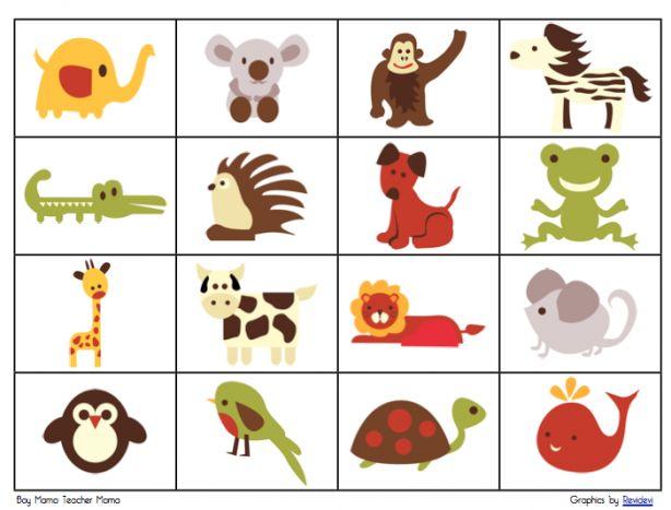 Dieren bingo met leuke retro dieren plaatjes. Leuk om met de kids te spelen. Simpel (gratis) downloaden via de link / bron, printen en spelen.