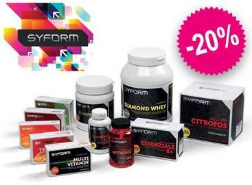 Syform con il 20% di sconto! Tantissimi prodotti per gestire l'attività fisica e le performance sportive al meglio Emoticon smile http://www.farmaciaigea.com/230_new-syform