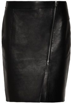 Alexander Wang Asymmetric leather pencil skirt | THE OUTNET