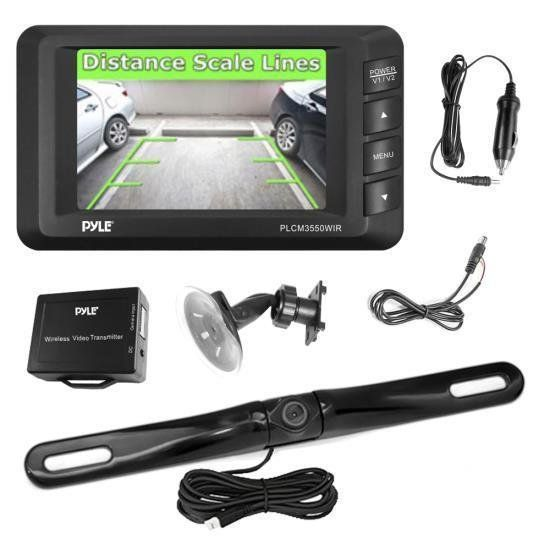 Wireless Rear View Back-up Camera & Monitor Parking/Reverse Assist System, 3.5'' Display, Distance Scale Lines, Night Vision Waterproof Cam, Swivel Angle Adjustable W290-PLCM3550WIR $216.56  This product is sold by: 1.Wireless Backup Camera & Monitor Parking Assist SystemIncludes Camera, Monitor and All Necessary Cables & WiringWireless Transmitter:2.4G Signal TransmitterInstantly Sends C...
