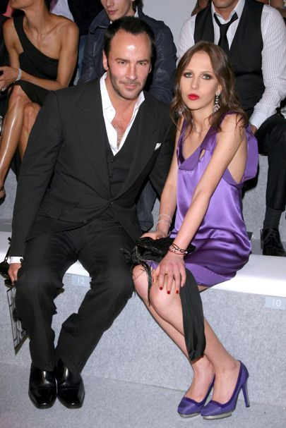 June 21 2008 With Allegra Versace at the Versace spring/summer 2009 menswear show in Milan.