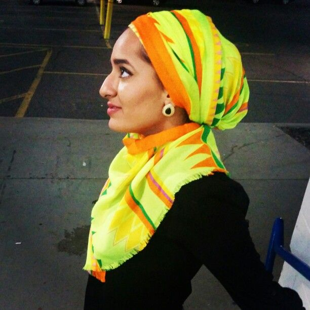 #hijab #neon #turban #summer #bright #style #fashion