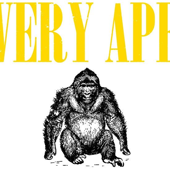 Nirvana Inspired Very Ape T Shirts, Stickers and Other Gifts