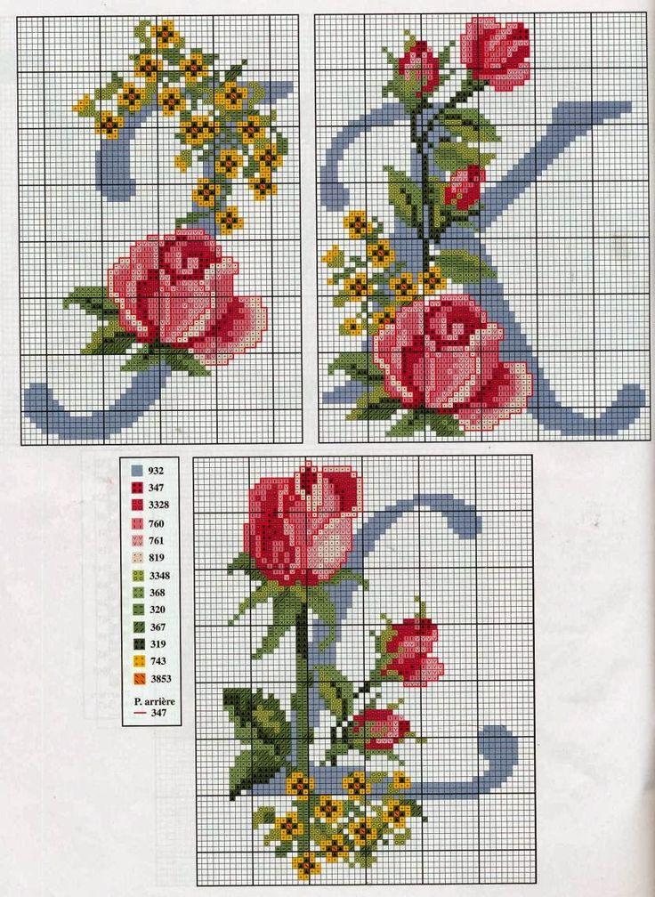 iniciales-con-rosas-4.jpg (839×1150)