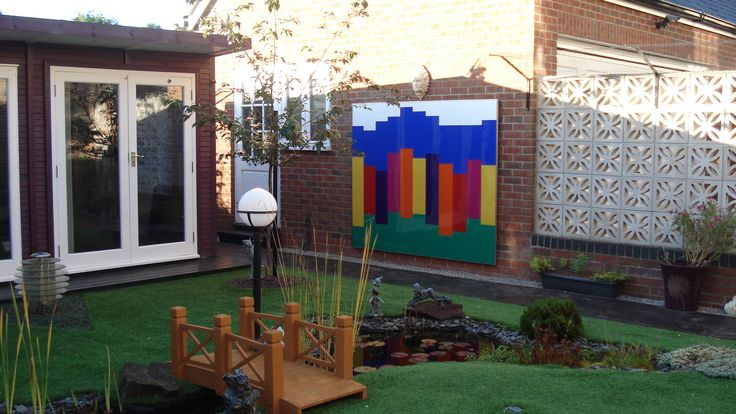 Latest project made with coloured acrylic sheet. Cut to make a collage and represent the colours of the world