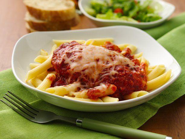 Slow Cooker Chicken Parmesan with Penne Pasta: Crock Pot