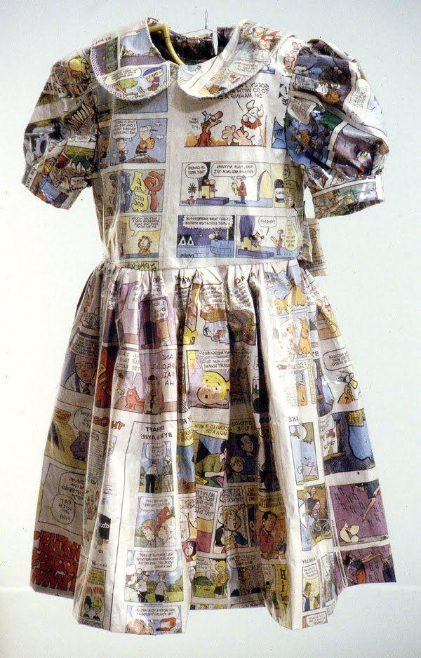 RECYCLED DRESS | Comic Strips | www.creativelyrecycling.com