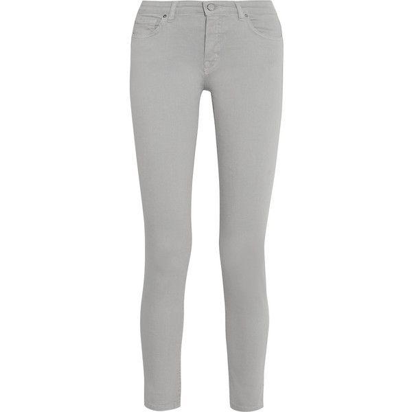 Victoria Beckham Denim Powerskinny mid-rise skinny jeans found on Polyvore