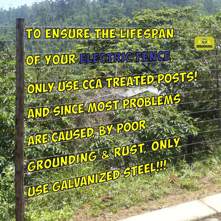 To ensure the lifespan of your electric fence, only use CCA treated posts! And since most problems are caused, by poor grounding & rust, only use galvanized steel!!! #electricfence #cca #galvanizedsteel  #obelixfencing