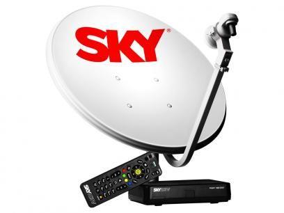kit Antena e Receptor Flex Pré-pago - Sky com as melhores condições você encontra no Magazine Vendasvirtuall. Confira!