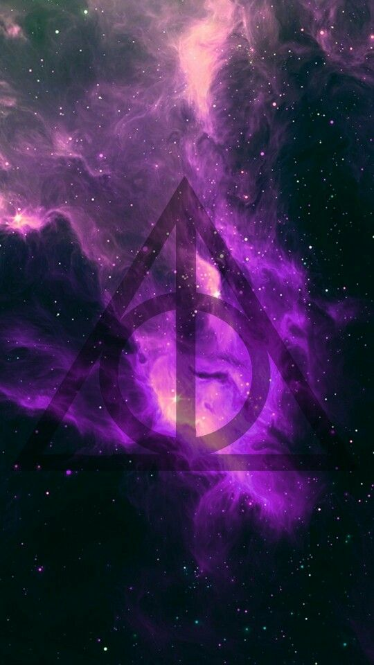 Harry potter and the deathly hallows. the deathly hallows. Symbol. Galaxy.