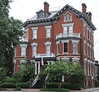 historical houses in america | Savannah Georgia Map - Things to do in Savannah, Telfair Museum of Art ...