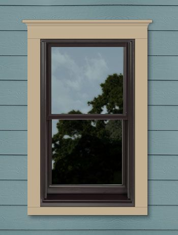 My custom designed andersen window window color dark for Anderson vinyl windows