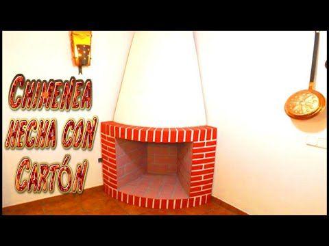 Manualidades para Navidad: chimenea decorativa de cartón | Manualidades
