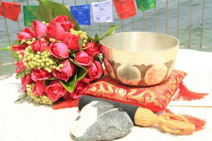 #Eco #Beach #Green #Wedding #Sydney #Buddhist #Singbowl