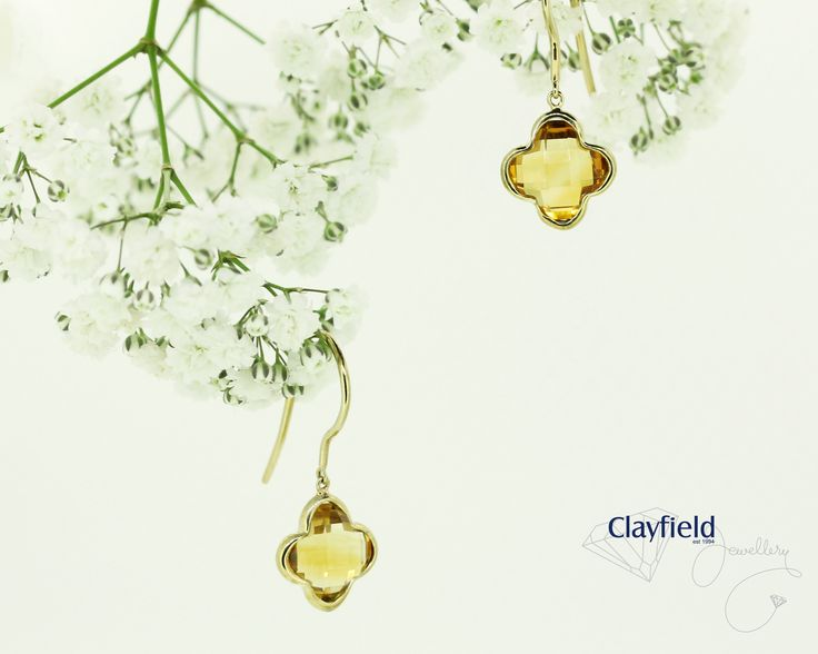Citrine earrings, by Clayfield Jewellery in Nundah Village North Brisbane