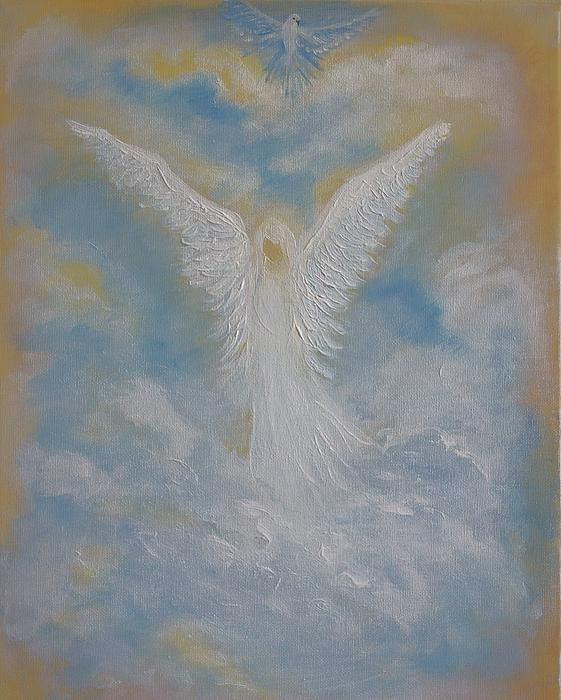Peace From An Angel  Painting  - Peace From An Angel  Fine Art Print