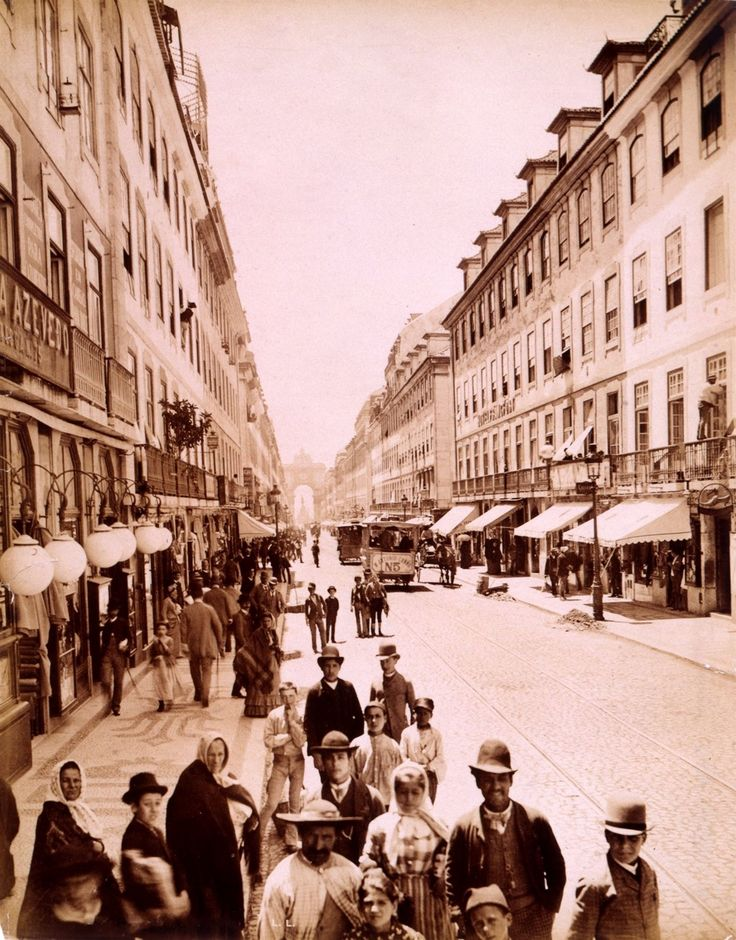 1890 - Rua Augusta, Lisboa