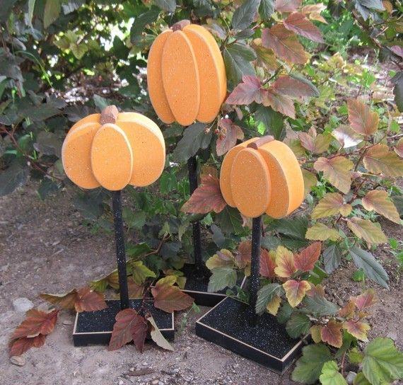 Standing Wooden Pumpkins